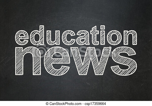 News concept: Education News on chalkboard background - csp17359664