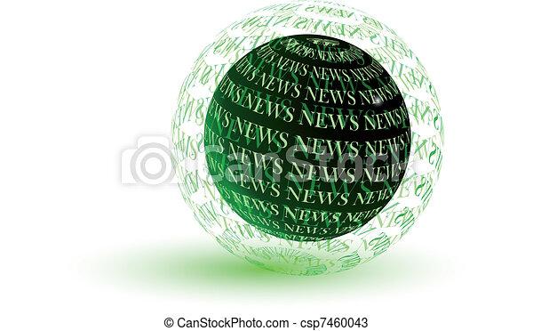 News green globe - csp7460043