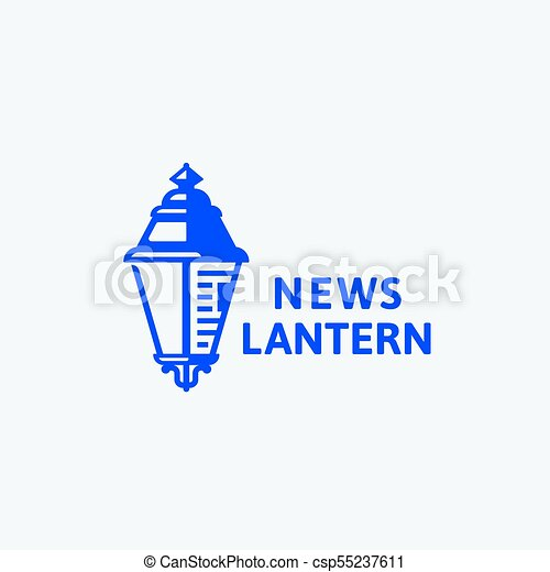 News lantern abstract vector sign, symbol or logo template ...