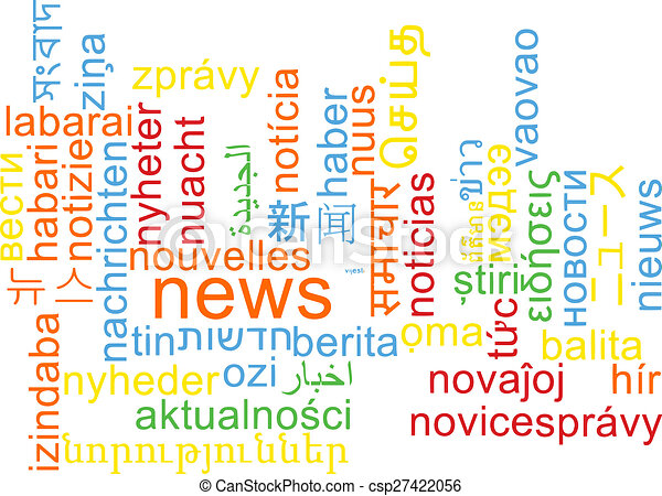 News multilanguage wordcloud background concept - csp27422056