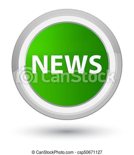 News prime green round button - csp50671127