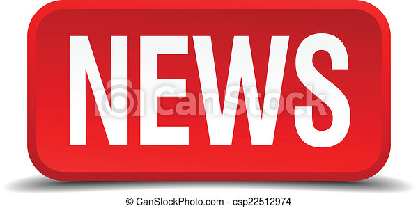 News red 3d square button isolated on white - csp22512974