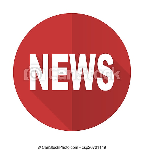 news red flat icon - csp26701149