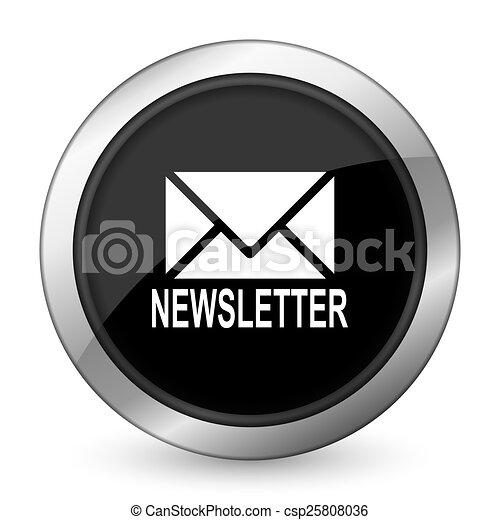 newsletter black icon - csp25808036