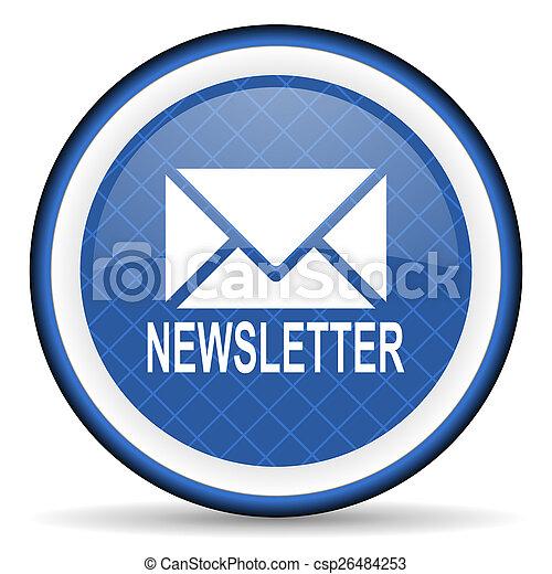 newsletter blue icon - csp26484253