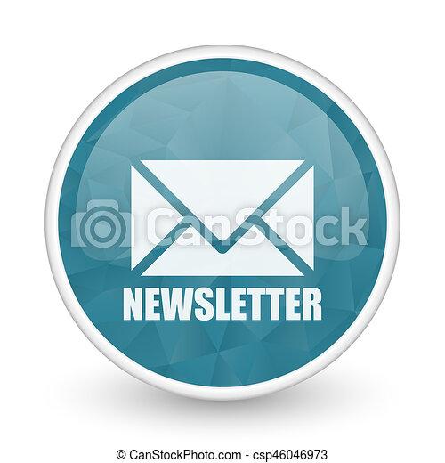 Newsletter brillant crystal design round blue web icon. - csp46046973