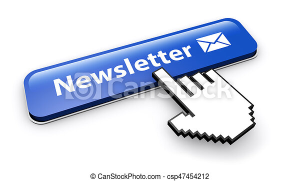 Newsletter Button Email Icon - csp47454212