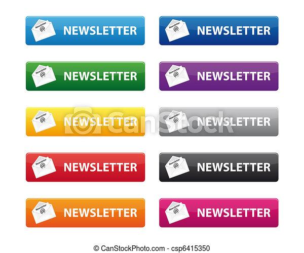 Newsletter buttons - csp6415350