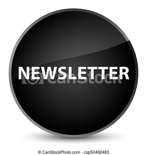 Newsletter elegant black round button - csp50492463