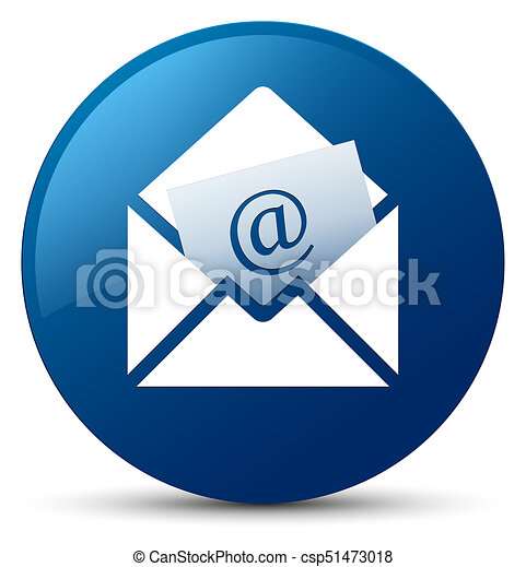 Newsletter email icon blue round button - csp51473018