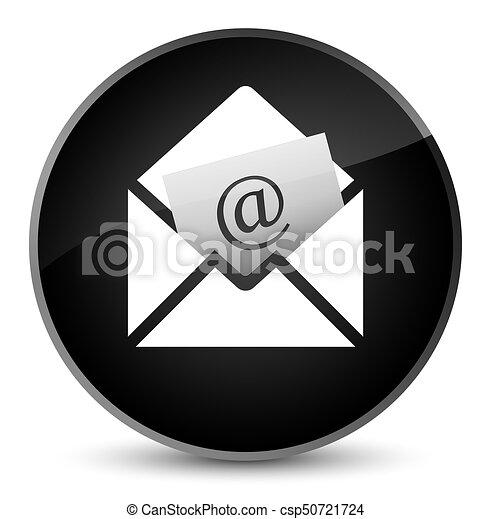 Newsletter email icon elegant black round button - csp50721724