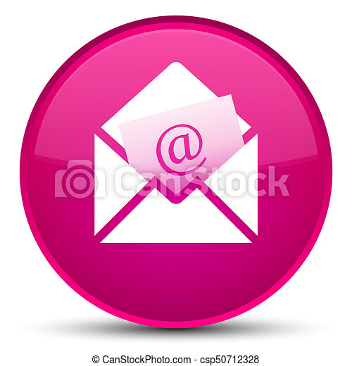Newsletter email icon special pink round button - csp50712328