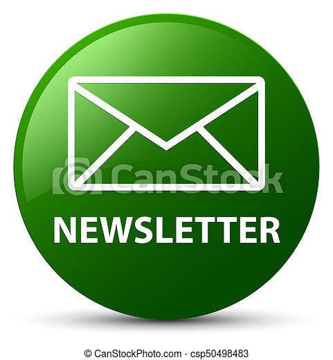 Newsletter green round button - csp50498483
