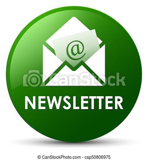 Newsletter green round button - csp50806975