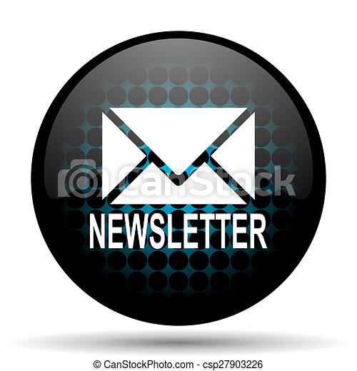 newsletter icon - csp27903226