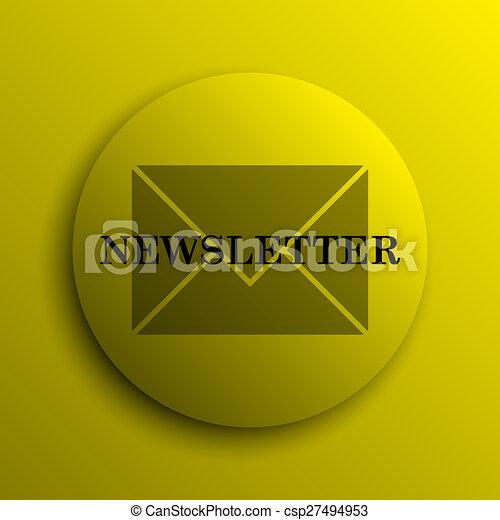 Newsletter icon - csp27494953