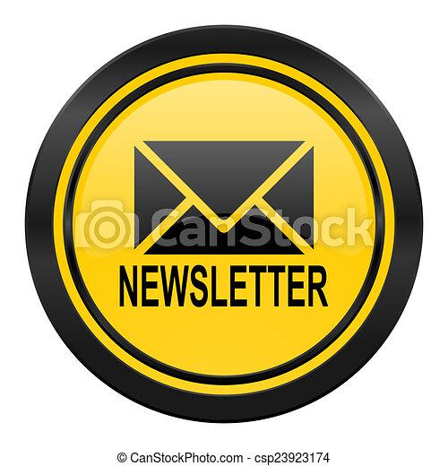 newsletter icon, yellow logo, - csp23923174