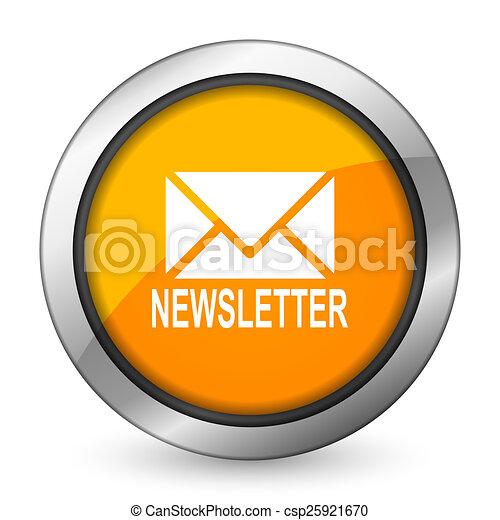newsletter orange icon - csp25921670