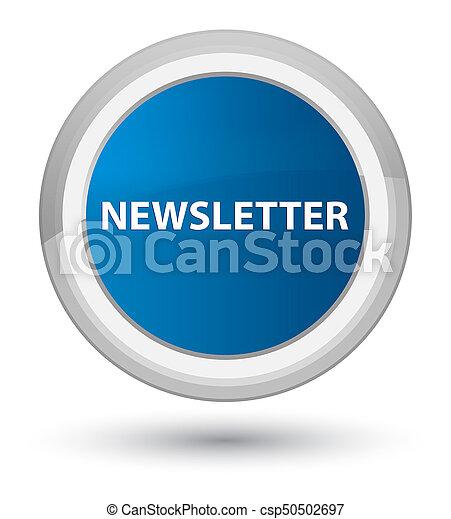 Newsletter prime blue round button - csp50502697