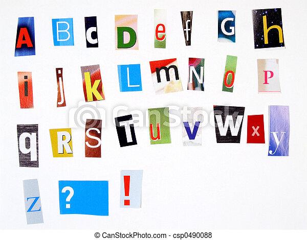 Newspaper alphabet - csp0490088