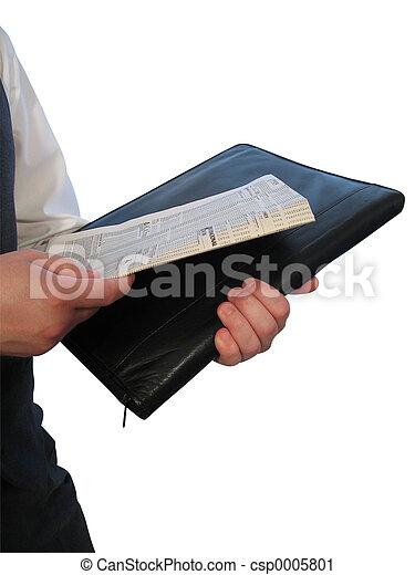 Newspaper Briefcase - csp0005801
