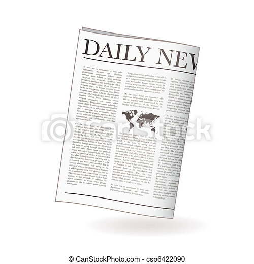 Newspaper daily. Newspaper icon for daily news with world ...