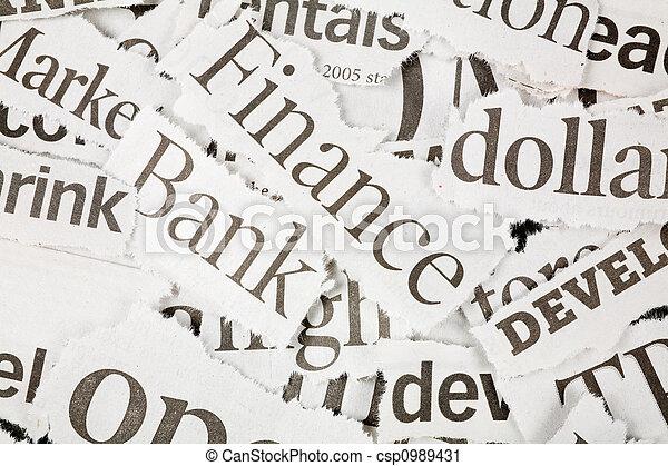 Newspaper Headlines - csp0989431