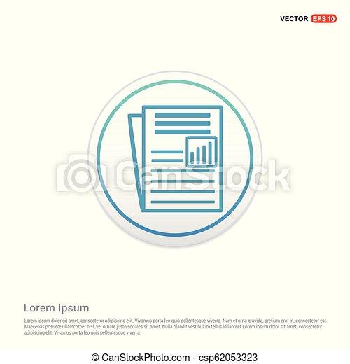 Newspaper Icon - white circle button - csp62053323
