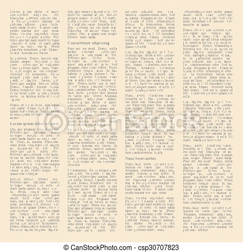 Background Of Pages Vintage Newspapers Vector