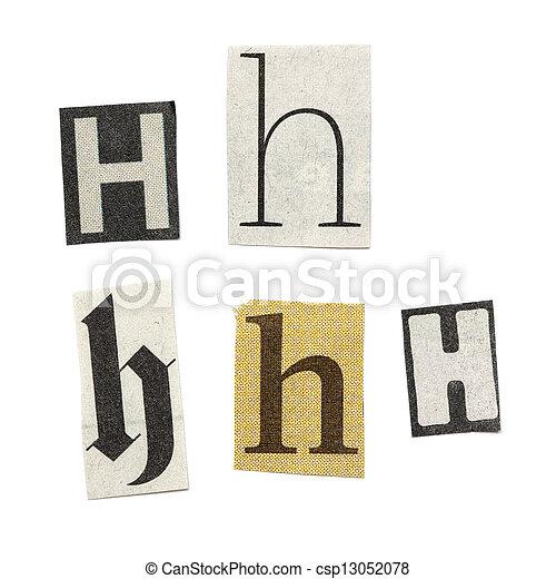Newspaper letters set of letters cut out from different news papers newspaper letters csp13052078 spiritdancerdesigns Gallery