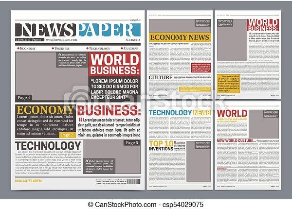 newspaper online template realistic poster newspaper online