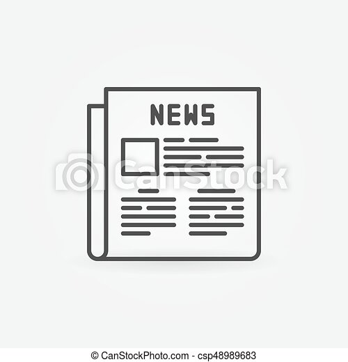 Newspaper Outline Icon