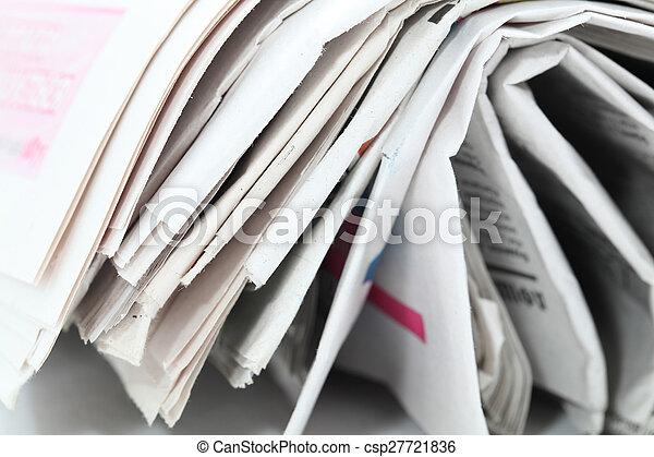 newspaper roll - csp27721836
