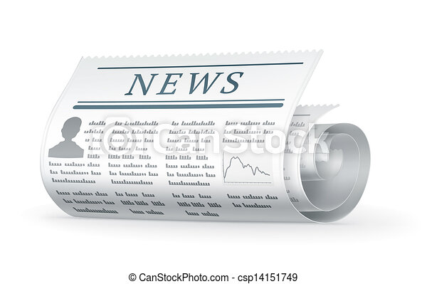 Newspaper rolled, 10eps - csp14151749