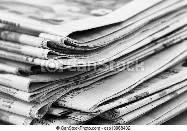 newspaper stack - csp13968402