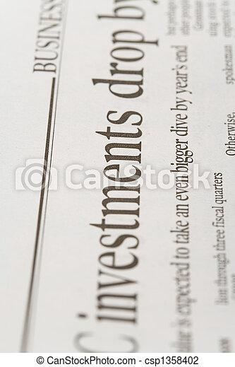 newspaper - csp1358402