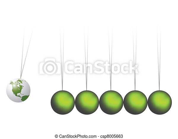 newtons cradle earth - csp8005663