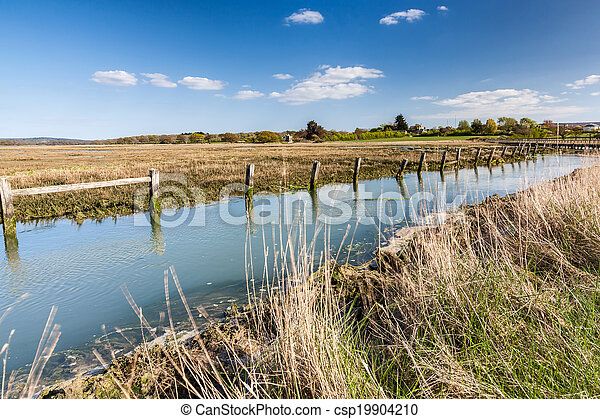 Newtown Harbour National Nature Reserve Isle Of Wight England - csp19904210