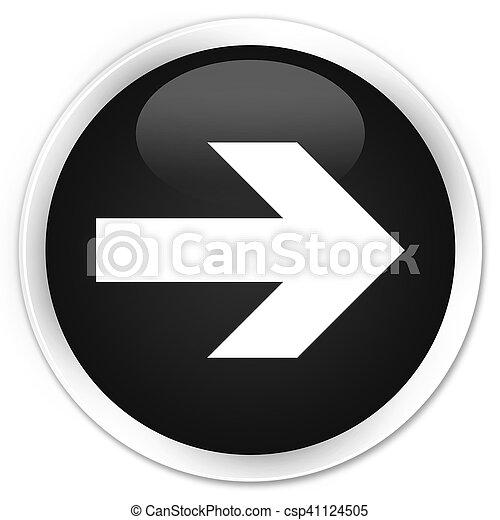 Next arrow icon black glossy round button - csp41124505