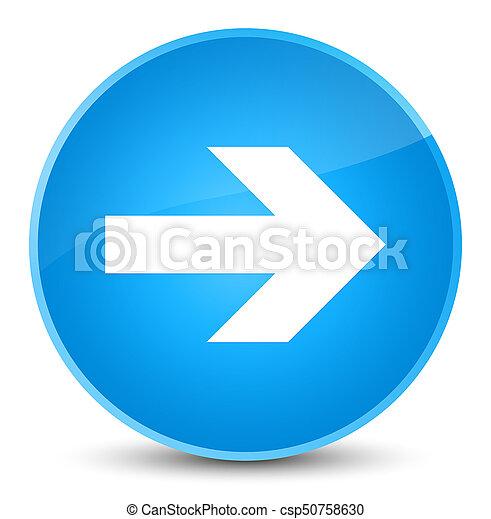 Next arrow icon elegant cyan blue round button - csp50758630