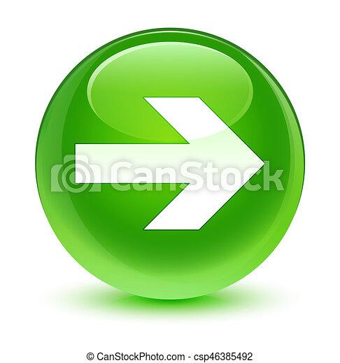 Next arrow icon glassy green round button - csp46385492