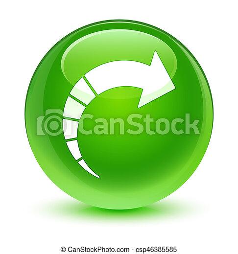 Next arrow icon glassy green round button - csp46385585