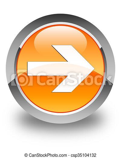 Next arrow icon glossy orange round button 4 - csp35104132