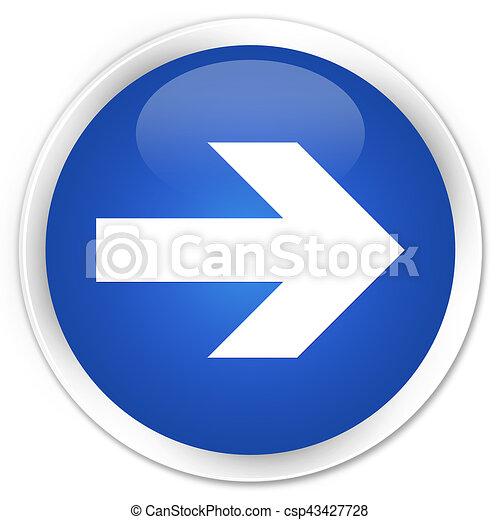 Next arrow icon premium blue round button - csp43427728