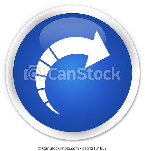 Next arrow icon premium blue round button - csp43181657