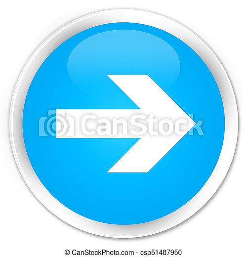 Next arrow icon premium cyan blue round button - csp51487950