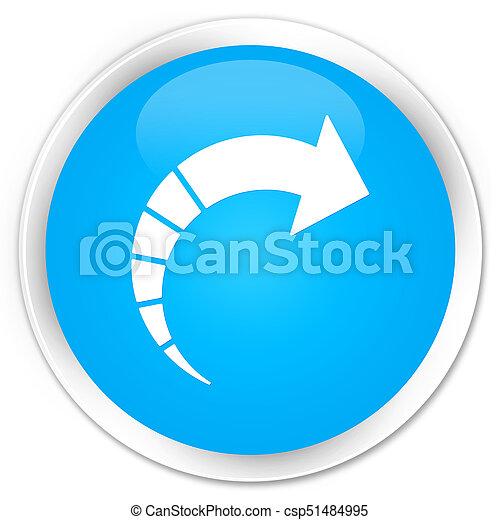 Next arrow icon premium cyan blue round button - csp51484995