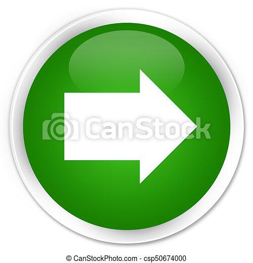Next arrow icon premium green round button - csp50674000