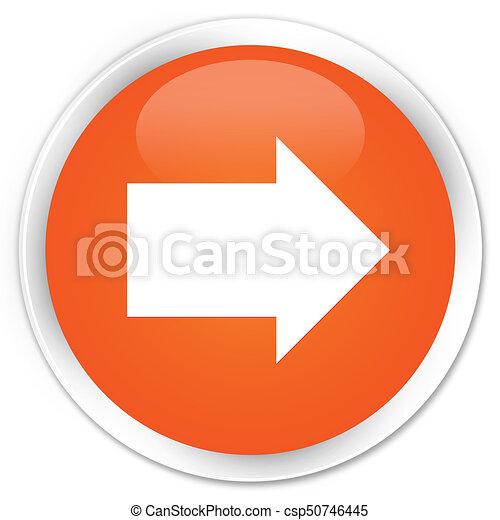 Next arrow icon premium orange round button - csp50746445