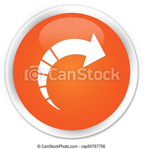 Next arrow icon premium orange round button - csp50767756